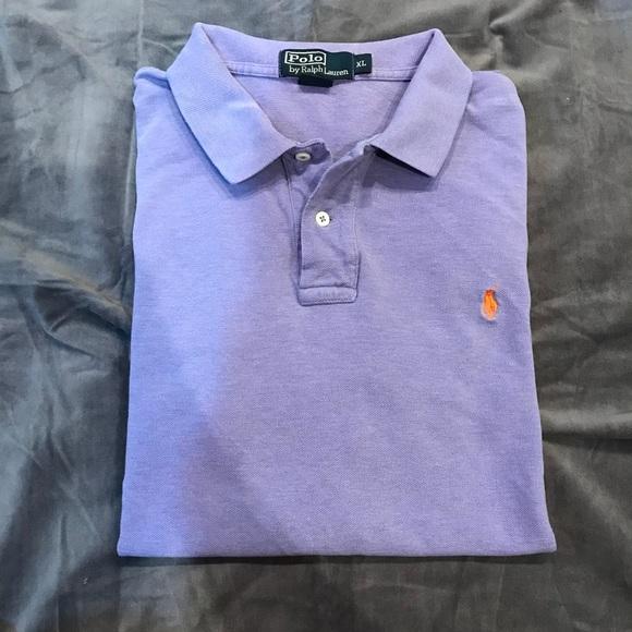 98061f04f Polo by Ralph Lauren Shirts   Polo Ralph Lauren Mens Lavender Polo ...